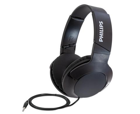 PHILIPS Kopfhoerer Over-Ear Bass mit Mikrofon