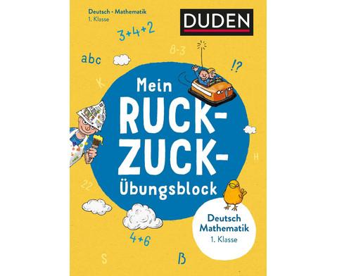 DUDEN Mein Ruckzuck-UEbungsblock Deutsch-Mathe 1 Klasse