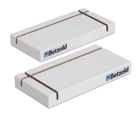 Betzold L-Stellfuss Eckloesung fuer den mobilen Spuckschutz links und rechts