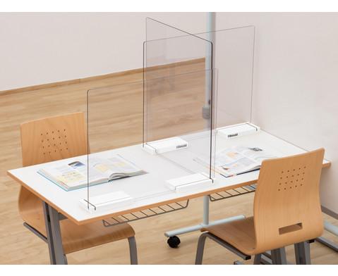 Mobiler Spuckschutz Schuelertisch