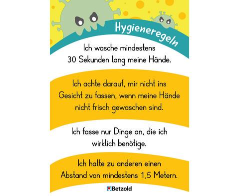 Plakat Hygieneregeln DIN A2 5 Stueck