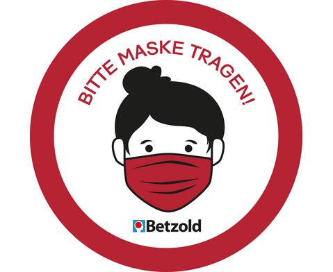 Aufkleber Bitte Maske tragen 10 Stueck