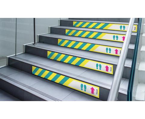Betzold Boden- und Treppenstufenaufkleber Laufrichtung 5 Stueck