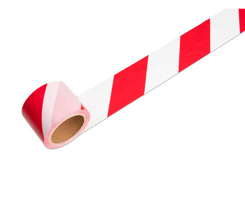 tesa Signal Absperrband Flatterband rot-weiss nicht klebend