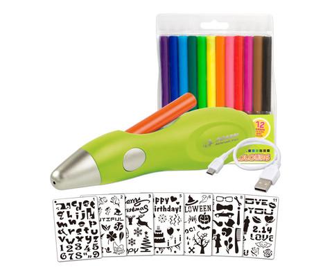 Airbrush-Stift inkl Vorlagen