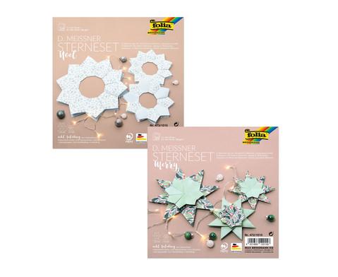 Sterne-Sets aus Papier verschiedene Modelle