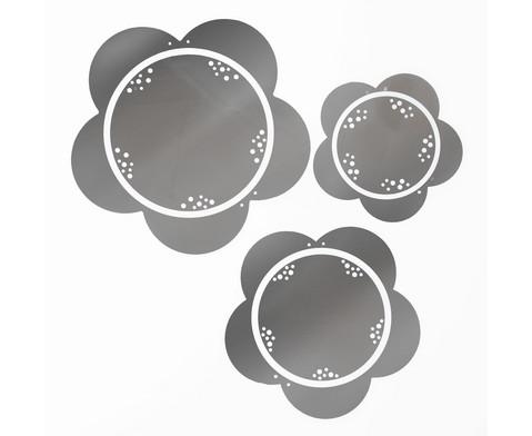 Blumen-Spiegel 3er-Set