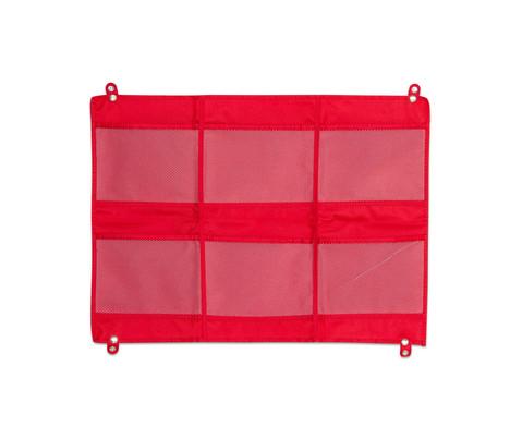 Haengeorganizer mit 6 Taschen rot 50 x 70 cm