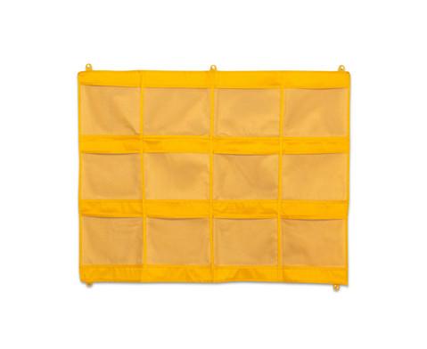 Haengeorganizer mit 12 Taschen 105 x 80 cm gelb