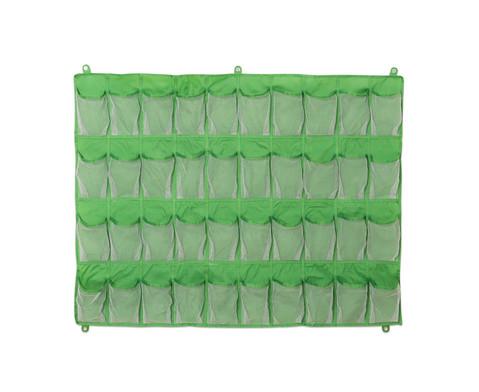 Haengeorganizer mit 40 Taschen gruen 80 x 105 cm