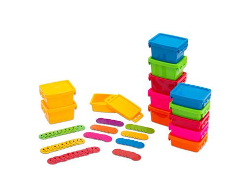 Sparset Magnetscheiben und Materialboxen
