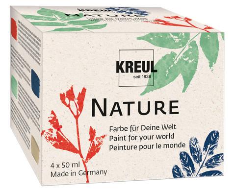 Nature-Set Farbe auf Wasserbasis 4 x 50 ml