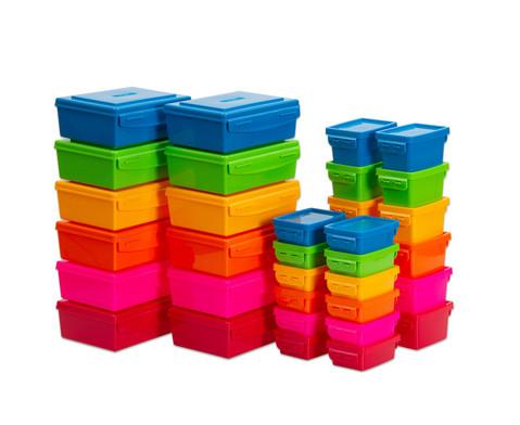 Betzold Aufbewahrungsboxen-Set Regenbogenfarben 36-tlg