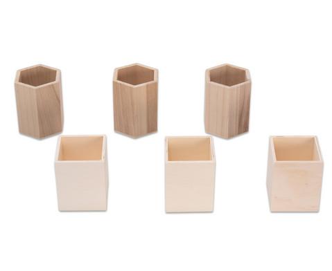 Stifthalter aus Holz 3 Stueck