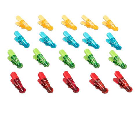WEDO Magnetklammer mit Starkmagnet bunt 20er-Set