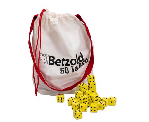 Betzold Jubilaeums-Fluesterwuerfel 200 Stueck im praktischen Beutel