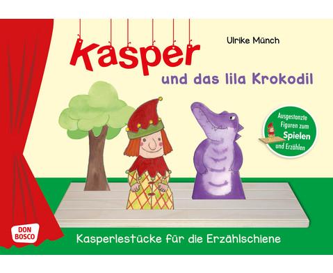 Kasper und das lila Krokodil Spielfiguren fuer die Erzaehlschiene