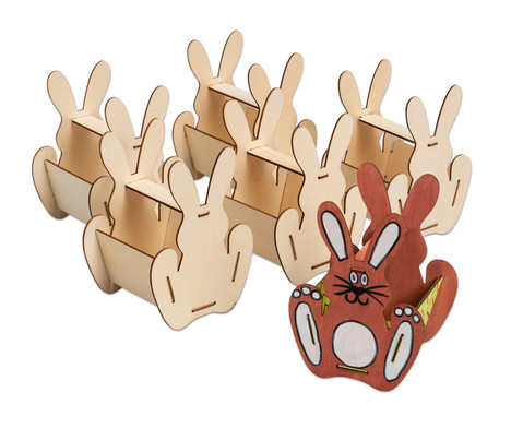 Holzkoerbchen Hase 6 Stueck