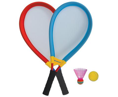 XXL-Tennis- und Badminton-Set