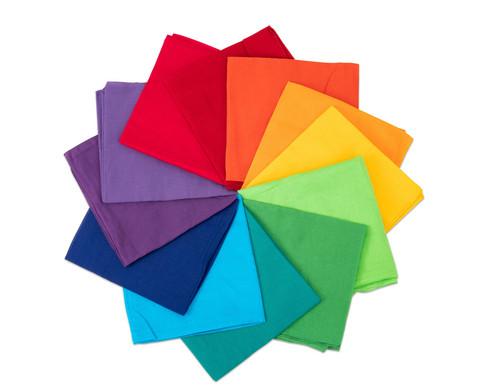 Spieltuecher Regenbogen 80 x 80 cm 12er-Set in 12 Farben