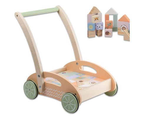 Lauflernwagen Holzbausteine