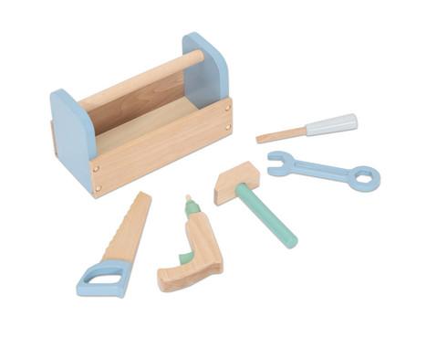 Betzold Spiel-Werkzeugset aus Holz pastell