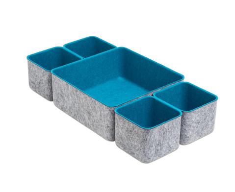 Betzold Filzschalen quadratisch 5er-Set