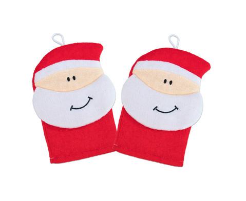 Betzold Waschhandschuh Weihnachtsmann 2er-Set