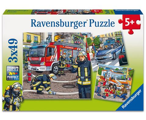 Ravensburger Puzzle Helfer in der Not 3er-Set 3 x 49 Teile