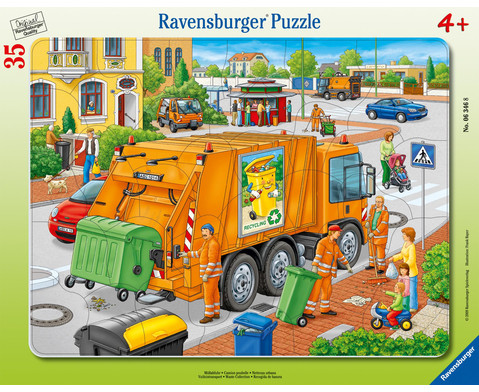Ravensburger Rahmenpuzzle Muellabfuhr 35 Teile