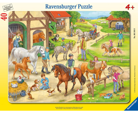 Ravensburger Rahmenpuzzle Auf dem Pferdehof 40 Teile