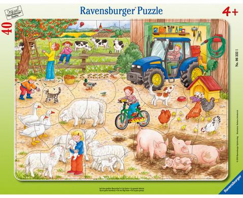 Ravensburger Rahmenpuzzle Auf dem grossen Bauernhof