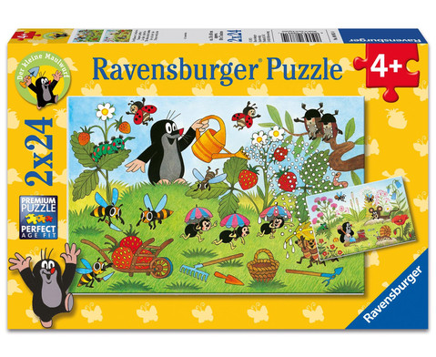 Ravensburger Puzzle Der Maulwurf im Garten 2er-Set 2 x 24 Teile