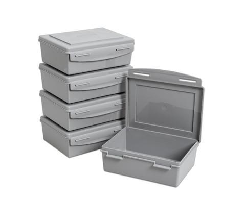 Betzold Aufbewahrungsbox 14 l 5 Stueck grau