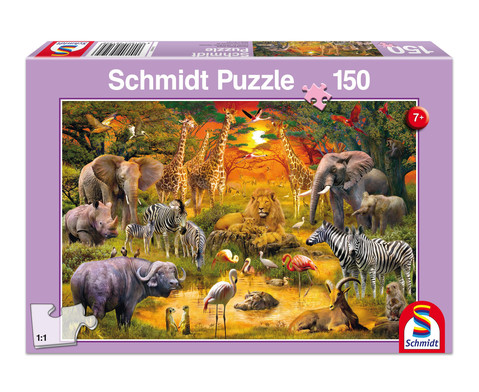 Puzzle Tiere in Afrika 150 Teile
