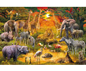Puzzle Tiere in Afrika-2