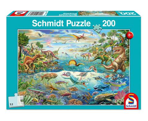 Puzzle Entdecke die Dinosaurier 200 Teile