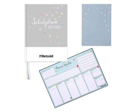 Betzold Design-Schulplaner-Set Notizen und Co