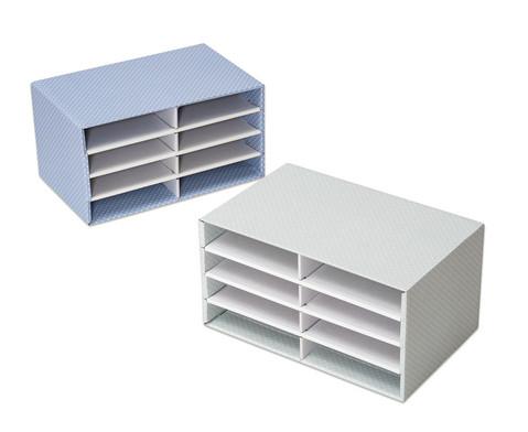 Schreibtisch-Organizer aus Karton 8 Faecher
