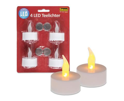 LED-Teelichter 4 Stueck