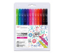 Tombow TwinTone Brights 12 Stueck-1
