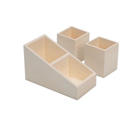 Stifte-Organizer aus Holz 3er-Set