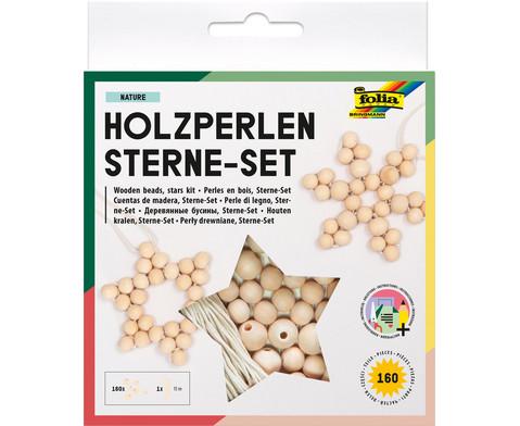 Holzperlen-Sterne-Set