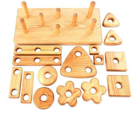 Stapel- und Baublock aus Holz