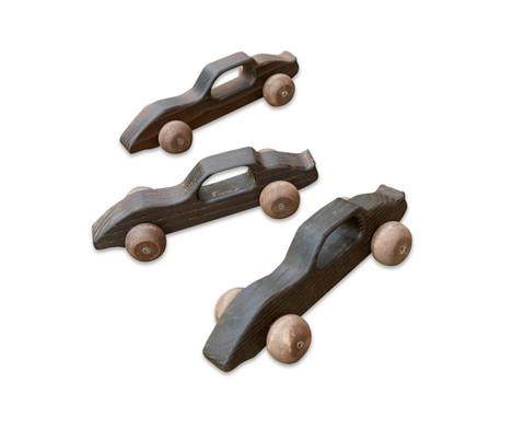 Spiel-Rennwagen aus Holz 10 Stueck
