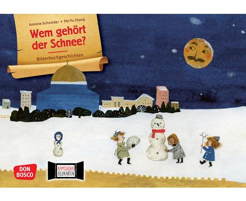 Wem gehoert der Schnee Kamishibai-Bildkartenset