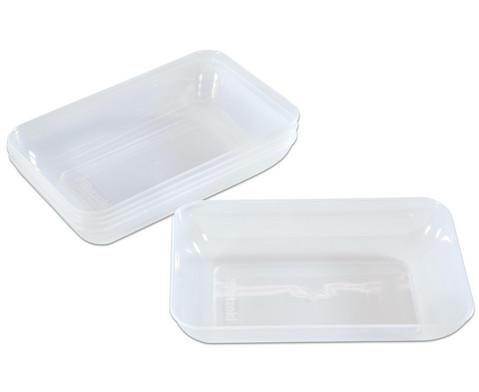 Materialschalen Transparent-klar 5 Stueck Groesse waehlbar
