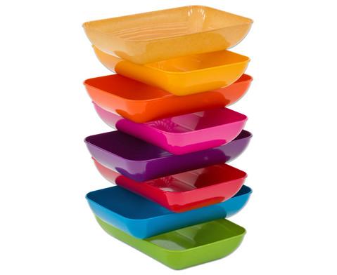 treeNside Materialschalen 6 Stueck verschiedene Farbsets waehlbar