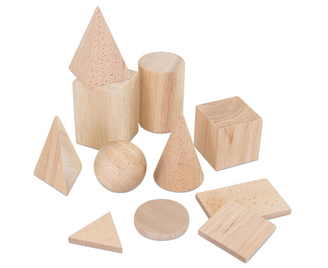 Geometriekoerper und Grundflaechen 11-teiliger Satz