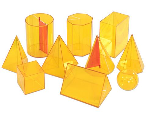 Betzold Geometriekoerper aus Plexiglas 10-tlg